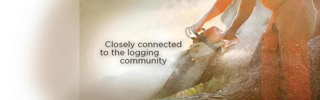 Closely connected to the logging community